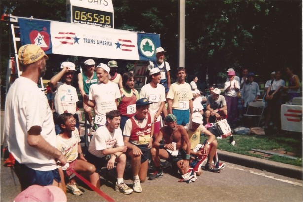 The finishers (survivors) of the TransAm in Central Park, New York