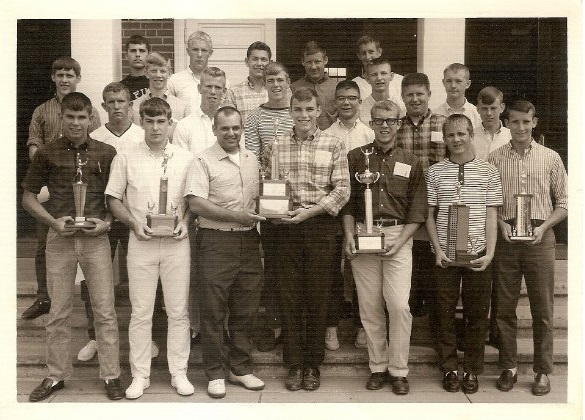 Trion High School Track State Champions 1965 (Richard Westbrook top left corner)