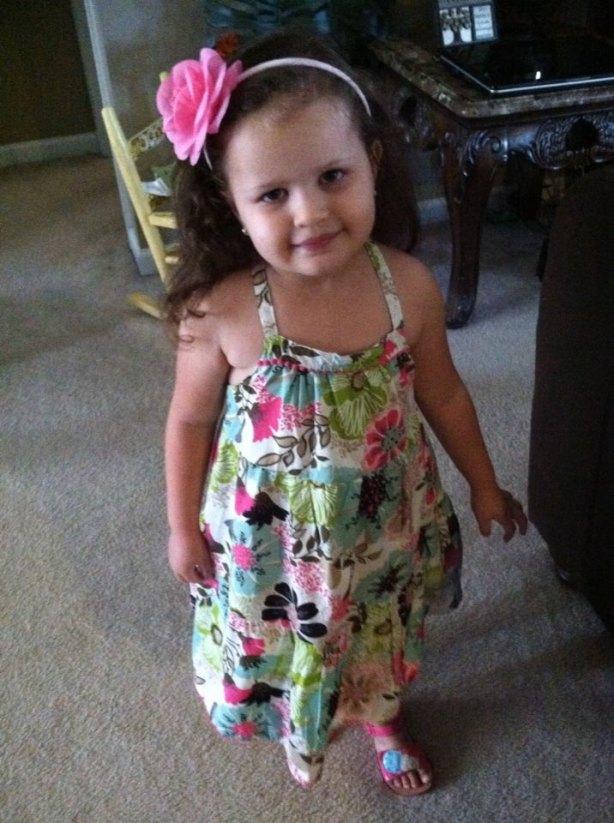 Mya Wellmaker, Richard's granddaughter, on her 4 year birthday.