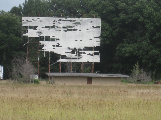 Old drive-in theater north of Martin, TN in first day of run last year, Vol State 2012