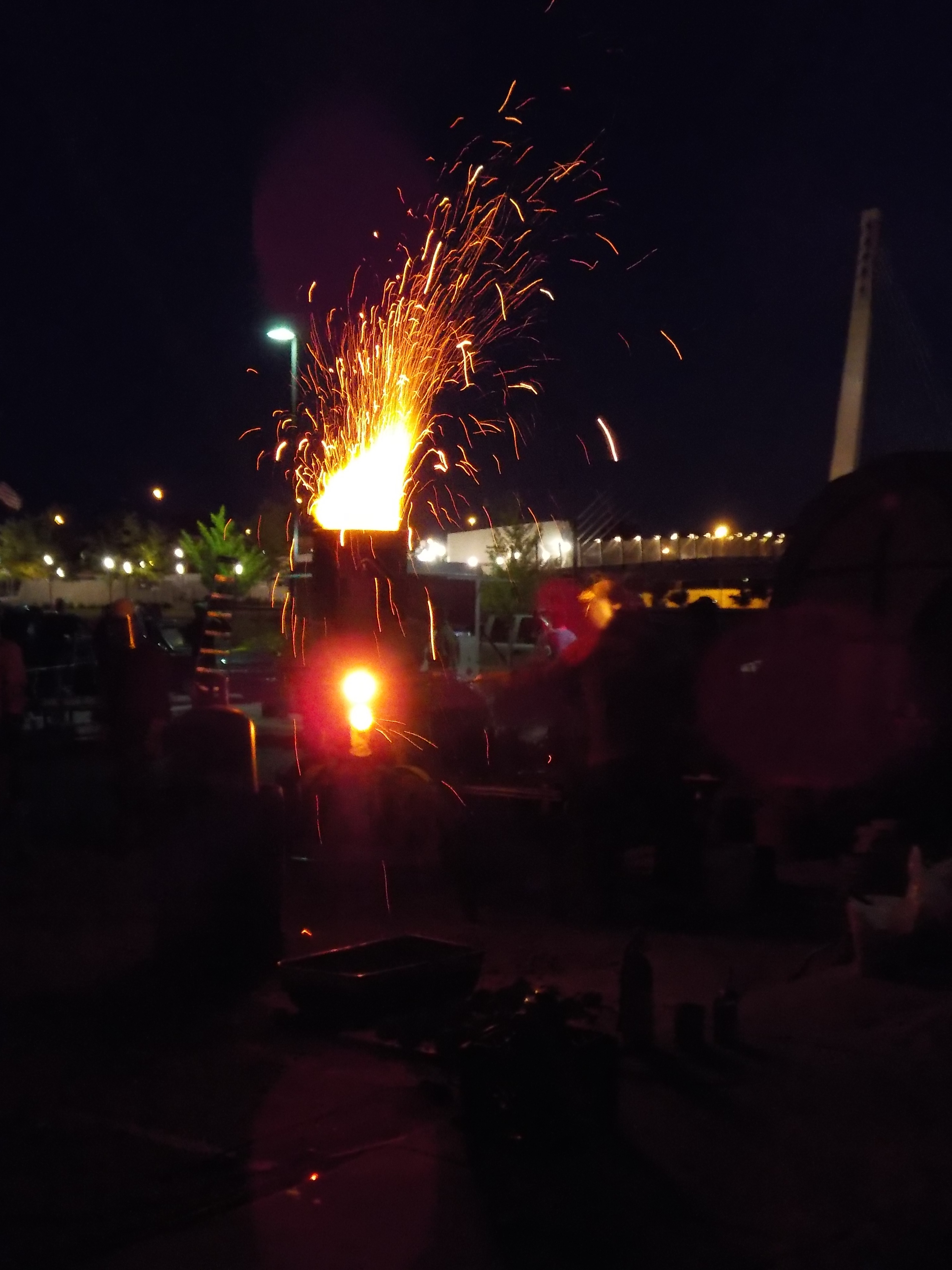 Casey's furnace for the iron pour