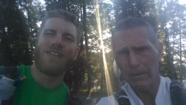 Frank Dahl and the Old Man after cresting Sand Mountain
