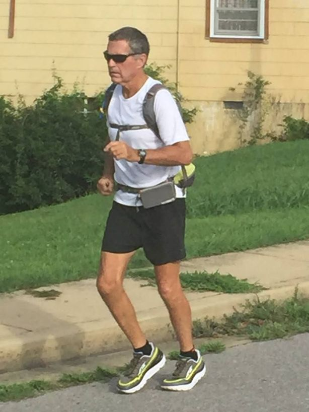 Richard Westbrook in Hickman, KY during the 2015 Vol State road race.