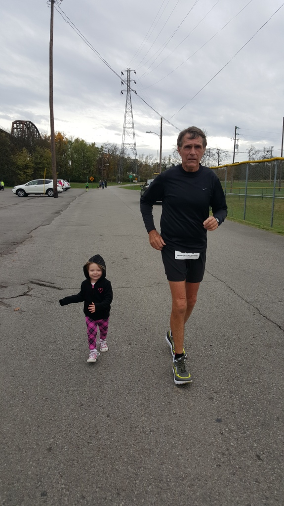 Running Nashville Ultra with her Paw Paw